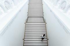 Girl goes upstairs in Stedelijk Museum Stock Image