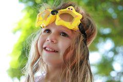 Girl with goggles Royalty Free Stock Photos