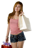 Girl going shopping Royalty Free Stock Images