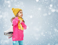 Girl is going skate Royalty Free Stock Images