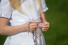 Girl going to the first holy communion Stock Image