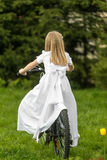 Girl going to the first holy communion Royalty Free Stock Images