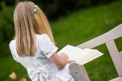 Girl going to the first holy communion. Girl on the day of Holy Communion Royalty Free Stock Image