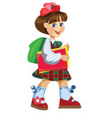 Girl going to school. The little girl going to school Stock Image