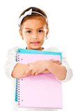 Girl going to school Stock Photo