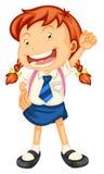 A girl going to school Royalty Free Stock Photos