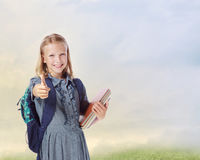 Girl Going to School Stock Photography