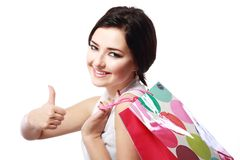 Girl going to shopping Stock Photos