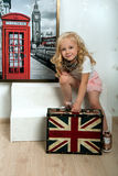 Girl going to travel Royalty Free Stock Photo