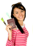 Girl going on vacation Stock Images