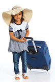 Girl Going On Vacation Royalty Free Stock Images