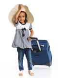 Girl Going On Vacation Stock Photos