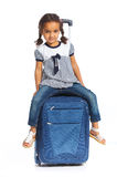 Girl Going On Vacation Stock Image