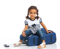 Girl Going On Vacation Stock Photography