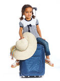 Girl Going On Vacation Royalty Free Stock Photos