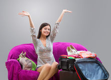 Girl going on vacation Royalty Free Stock Photography
