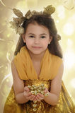 Girl in a gold Royalty Free Stock Images