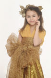 Girl in a gold Royalty Free Stock Photos