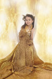 Girl in a gold Royalty Free Stock Photo