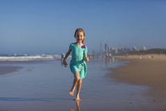 Girl on Gold Coast  Royalty Free Stock Photography
