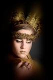 The girl with the golden hair Royalty Free Stock Photo