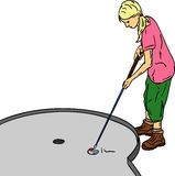 Girl golf Stock Image