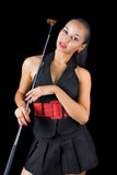 Girl with golf club Stock Photography