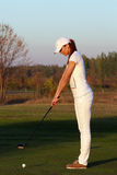Girl golf player Royalty Free Stock Photography