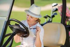 Girl on golf Stock Photos