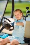 Girl on golf Stock Photography