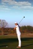 Girl golfer Stock Photography