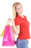 Girl gone shopping royalty free stock photos