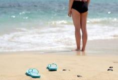 Girl gone swimming Royalty Free Stock Photo