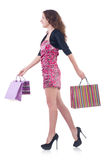Girl after good shopping Royalty Free Stock Photo
