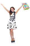 Girl after good shopping Royalty Free Stock Images