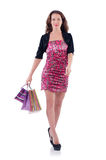 Girl after good shopping Stock Photography