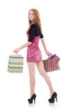 Girl after good shopping Stock Photo