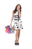 Girl after good shopping Stock Image