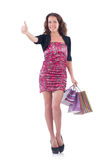 Girl after good shopping Royalty Free Stock Image