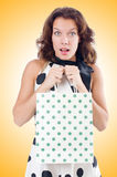 Girl after good shopping Stock Photos