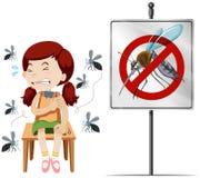 Girl got bitten by mosquitoes Stock Photo