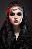 Girl in gothic art style. stock photos