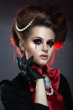 Girl in gothic art style. Royalty Free Stock Photo