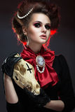 Girl in gothic art style. Royalty Free Stock Images