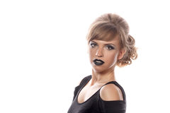 Girl with gothic makeup Royalty Free Stock Photo