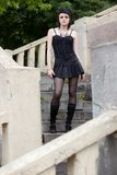 Girl in gothic style Stock Photography