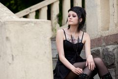 Girl in gothic style Stock Image
