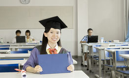 A girl graduate Stock Photography