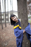 Chinese Graduate in the campus Stock Photography