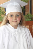 Girl Graduates Kindergarten Royalty Free Stock Image